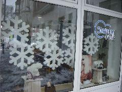 Winterdekoration Eiskristalle Eisschollen Schneekugeln